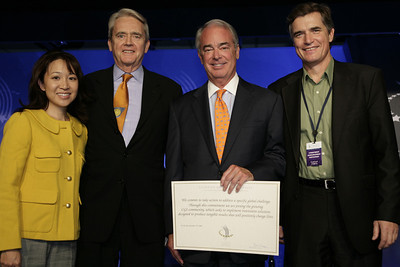 Presenting Smart Grid commitment at Clinton Global Initiative with Jim Rogers of Duke Energy
